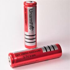 2 x  Unarm Fire 6800 mAh  Lithium Ionen Akku 3,7 V / 18650 Li  - ion