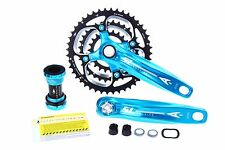 Aerozine X12 MTB Bike Cycling Crankset/9s 10s 44/32/22T 170mm 175mm 833g/Blue