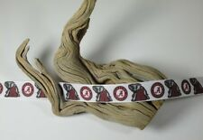 "BTY 7/8"" White University Alabama Roll Tide Grosgrain Ribbon Lisa"