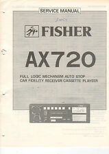 Fisher Service Manual guía ax720 b1460