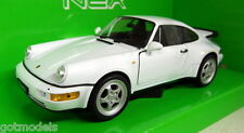 Nex models 1/24 Scale 24023W Porsche 911 964 Turbo White Diecast model car