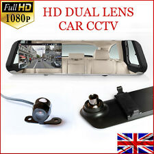 16GB ULTRA HD 1920X1080FHD Car Mirror CCTV Security DUAL LENS Recorder DASH CAM