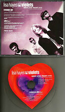 LISA HAYES AND THE VIOLETS Open your Heart PROMO DJ CD Single COOL DISC MAXIMINI