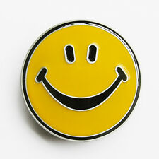 BRAND NEW HAPPY FACE SMILE YELLOW CLASSIC BELT BUCKLE !