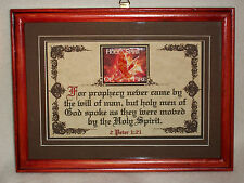 PROPHECY NEVER CAME BY THE WILL OF MEN~Bible,Verse,Plaque,Christian,Framed Gifts