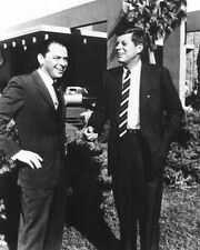 Frank Sinatra John F Kennedy outside Sands BW 10x8 Photo
