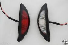 2x LED SIDE OUTLINE MARKER RED/WHITE LIGHTS VERTICAL FIT FOR TRUCK TRAILER LORRY