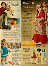 1974 PAPER AD Doll Janette Walking Cathy Quick Curl Wendy Sunshine White Black