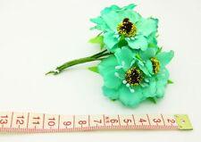 6pcs 11X9cm Peony Flower Artificial Flower Bouquets Home Floral Decoration green