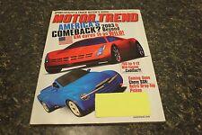 MOTOR TREND AMERICA'S COMEBACK? NOVEMBER 2001 VOL.53 #11 9248-1 [LOC.ELK] #19