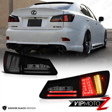 [FiBerOpTiC] 2006-2008 Lexus IS250 IS350 Sinister Black LED Strip Rear Taillight