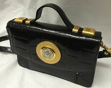 Gianni Versace Very Rare mock croc   Vintage Medusa Clutch/shoulder  Bag