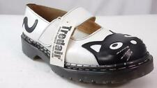 TREDAIR MIE ENGLAND MADE 'TNR1381L' WHITE BLACK CAT HEAD MARY JANES OXFORDS 5