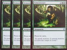 XXX 4x Harmonize armonizzare Italiano Commander 2013 (Green) NM/MINT XXX xxx