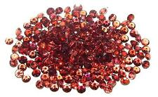 3mm Calibrated Orange Red Malaya Garnet Round - 2 STONES