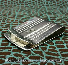 102g BRITISH CLASSIC FULL FOLD 935 925 Argentium Sterling Silver Money Clip USA