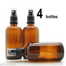 50ml amber glass spray bottleS (4 lot) aromatherapy essential oils refillable