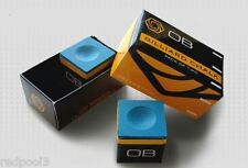 2 Pieces - OB Pool Chalk - OB Cue Premium Quality Billiard Chalk - BLUE