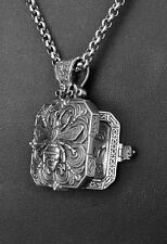 Konstantino Bee Nectar Locket Pendant Necklace Sterling Silver Penelope New
