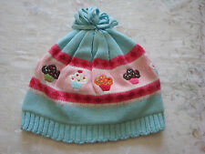 NWT GYMBOREE GIRLS CUPCAKE SWEATER HAT  2T -5T  2 3 4 5 BLUE