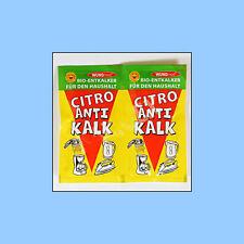 Bio Schnell-Entkalker Pulver Entkalkung für Wasserkocher Tab Kaffeemaschinen