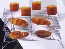3 Tier Stackable CAKE COOLING RACK  Chrome Wire frame baking cookware