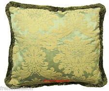ITALIAN Venetian Elegant Sofa/Bed CUSHION/PILLOW CASE Jacquard Woven+Fringe New