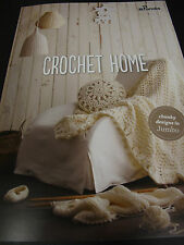 PANDA HOMEWARES LEAFLET CROCHET PATTERN NO 808,JUMBO YARN