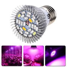 28LED Grow Light Full Spectrum 28W E27 Veg Flower Plant Indoor Growing Lamp NEW