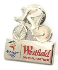 WESTFEILD SILVER BIKE RIDER SYDNEY OLYMPIC GAMES 2000 PIN BADGE COLLECT #157