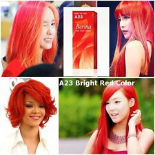 BERINA A23 COLOR BRIGHT RED PERMANENT HAIR DRY COLOR CREAM FASHION PUNK