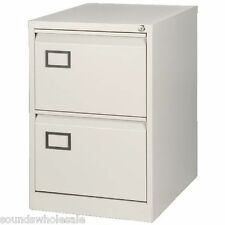 2 DRAWER RS PRO BISLEY STEEL FOOLSCAP FILING CABINET / GOOSE GREY NEW +FREE 24H