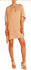 "$178 BCBG ANTIQUE ROSE ""JAZMINE"" DRAPEDT KIMONO SLEEVE DRESS NWT M/L"