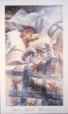 """Steve Hanks(1949-2015) """"Crib Quilt"""" open ed 19.25""""x32"""""""