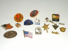 Men's LAPEL PINS, CAP PINS, FLAGS, EAGLE, & More - (15) Steam Punk -Crafts