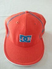 SNAPBACK New Era 59Fifty DC ORANGE Fitted Hat 7 3/8 Cap RARE COLOR SKATE SURF