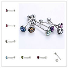 Tongue Bar Ring Barbell 6PCS Lots Stainless Steel Body Piercing Jewelry Ball Lip