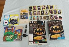 Vintage Batman Cereal Taco Bell Box Premium Ertl Figure Trading Card Lot