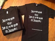 Love Me or Leave Me Alone T-Shirt Inspired by Brand Nubian Jay-Z Tee Old School