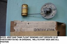 WILLYS JEEP FUEL TANK SENDING UNIT FLOAT PART #906773  N.O.S. 60'S?