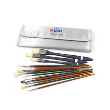 Lot 13pcs Eval Weasel Hair Watercolor Paint Brush Set Arylic Oil Painting Supply