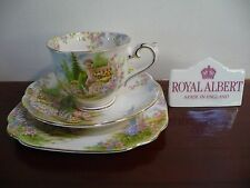 "Royal Albert VINTAGE ""KENTISH ROCKERY"" TEA TRIO -1ST Q c.1927- Crown China"