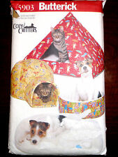 Butterick COZY CREITTERS Dog Cat Pet Beds Igloo Tent Sewing Pattern 5903
