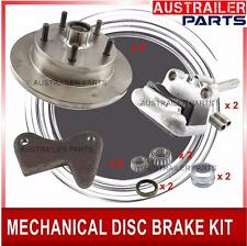 MECHANICAL BRAKE KIT WITH GALVANISED CALIPER .TRAILER,CARAVAN AND BOATS