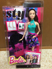 2015 Barbie Fashionista Articulated Style Glam Party Night Lea Asian Doll New