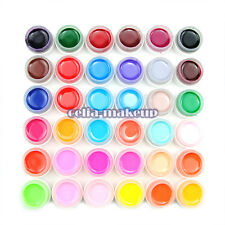 36 Pots Nail Art UV Gel Set Pure Color Solid Builder Polish Manicure Tips Lamp
