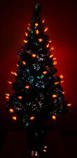 Red Star+BASIC 120CM Green Fibre Optic Multi Change Colour&LED Christmas tree