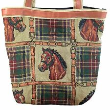 Horse Equestrian Bridle Tapestry Purse Hand Bag Tote Liberty Street Baggage Co