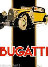 1930 Bugatti French France Automobile Car Vintage Advertisement Art Poster Print
