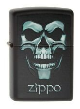 Zippo 218 Skull in Shadow Halloween Lighter RARE